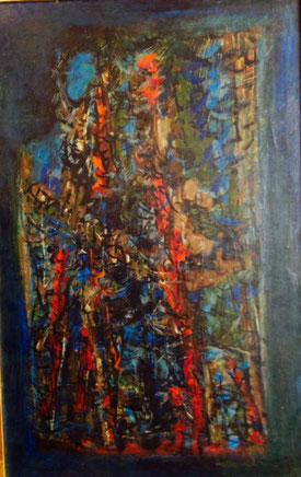Christian Gardair. Peinture à l'huile sur toile, inspirée par Victoire Elisabeth Calcagni