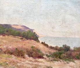 """Hermann Delpech """"La dune du Pyla du Pilat"""" Sur le Bassin d'Arcachon."""