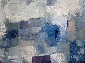 Jacques Aguila. Peinture à huile et sable sur panneau