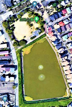 皿池公園(上方。下の池を含め計画決定)