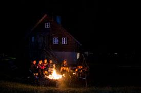 Lagerfeuer an der Haswa Hütte