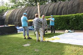 Das Ballon -Team trifft Vorbereitungen