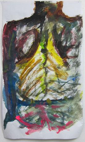 August 2014 Natascha »Rücken« Acrylfarbe ca. 70 x 120 cm
