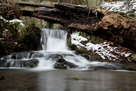 Silberbach im Winter am Velmerstot