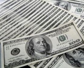 Liasses de dollars