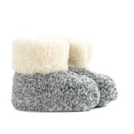 chaussons BAMBOUCHA® en laine naturelle de mouton enfant lavable machine babouche pantoufle chausson bottines bottillons botttes fille garçon
