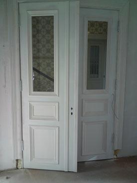 Ansicht der Tür von Innen, während der Montage