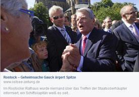 Gauck lädt zum Staatsbesuch nach Doberan und Rostock
