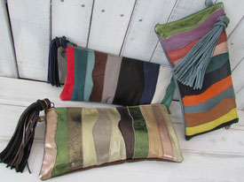 PATCHWORK WIDE CLUTCH