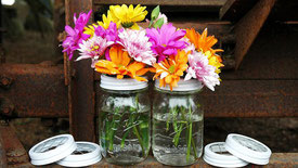 mason jar flores