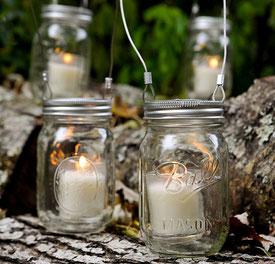 mason jar velas
