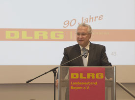 Bayerns Innenminister dankte den Mitgliedern der DLRG für ihr nachhaltiges Engagement