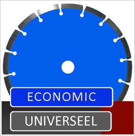 slijpschijf of zaagblad economic voor haakse slijper met een 10mm segment voor universeel gebruik in de algemene bouwsector