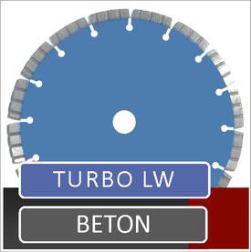 slijpschijf met laser gelast turbo segmenten voor droog gebruik op een haakse slijper