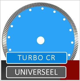 slijpschijf turbo cr is een zaagblad met een vol segment met een turbo segment waardoor het ook zeer geschikt is voor het verzagen van natuursteen zoals arduin en graniet met een benzine doorslijper dit zaagblad is verkrijgbaar in diameter 300mm en 350mm