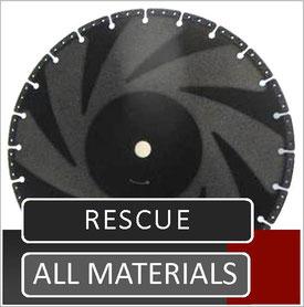 rescue slijpschijf worden doorgaans gebruikt door hulpdiensten zoals brandweer en civiele bescherming en kunnen letterlijk alles doorslijpen