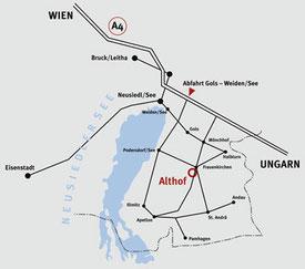 Anfahrtsplan zum Reiterhof Althof