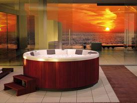 achat coque polyester spa rond exterieur camping hotel magasin piscine alba alès près de la calmette