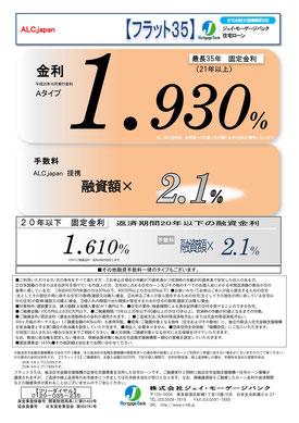 フラット35金利情報 2013年10月