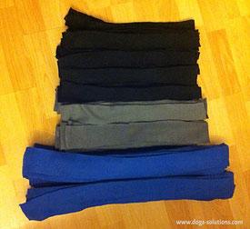 Bandes de tissu polair découpé