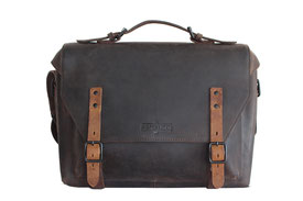 laptop Messenger, Margelisch in Leder