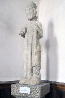 Saint Eutrope  Statue pierre calcaire décapée.  Premier quart du XIV  siècle.Photo de Philippe