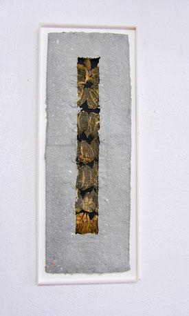 Dünnhäutig I; 2017; 45cm; geschöpftes Papier mit Pflanze
