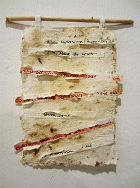 Geheimnis; 2006; geschöpftes Papier