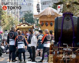 花畑大鷲神社大祭, 2017年10月8日, 開催情報, 渡御巡行マップ