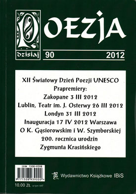 """Poesie - XII.-UNESCO Welttag der Poesie - Warschau / Literaturzeitschrift """"POESIE heute"""", Nr. 90, S.51, IBiS, Warschau, Polen 2012"""