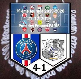Fanion  PSG-Amiens  2019-20