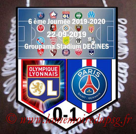 Fanion  Lyon-PSG  2019-20