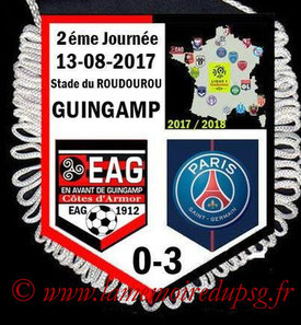 Fanion  Guingamp-PSG  2017-18