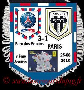 Fanion  PSG-Angers  2018-19