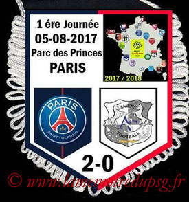 Fanion  PSG-Amiens  2017-18
