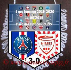 Fanion  PSG-Nimes  2019-20
