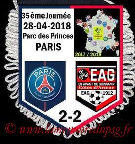 Fanion  PSG-Guingamp  2017-18