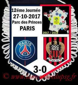 Fanion  PSG-Nice  2017-18