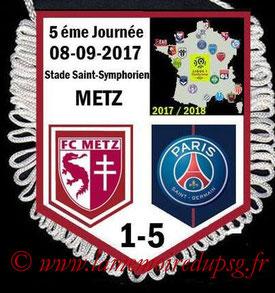 Fanion  Metz-PSG  2017-18