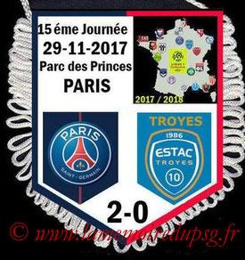 Fanion  PSG-Troyes  2017-18