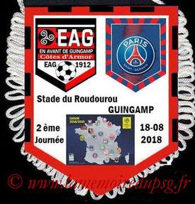 Fanion  Guingamp-PSG  2018-19