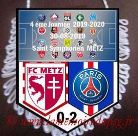 Fanion  Metz-PSG  2019-20