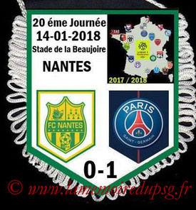 Fanion  Nantes-PSG  2017-18