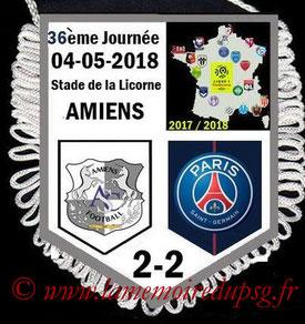 Fanion  Amiens-PSG  2017-18