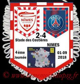 Fanion  Nîmes-PSG  2018-19