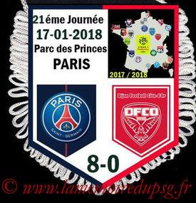 Fanion  PSG-Dijon  2017-18