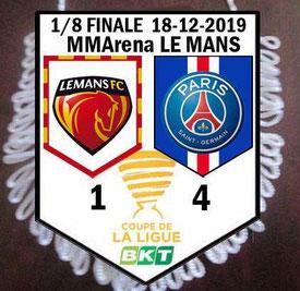 Fanion  Le Mans-PSG  2019-20