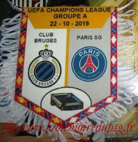 Fanion  Club Bruges-PSG  2019-20