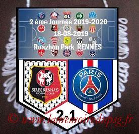 Fanion  Rennes-PSG  2019-20