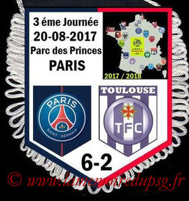 Fanion  PSG-Toulouse  2017-18